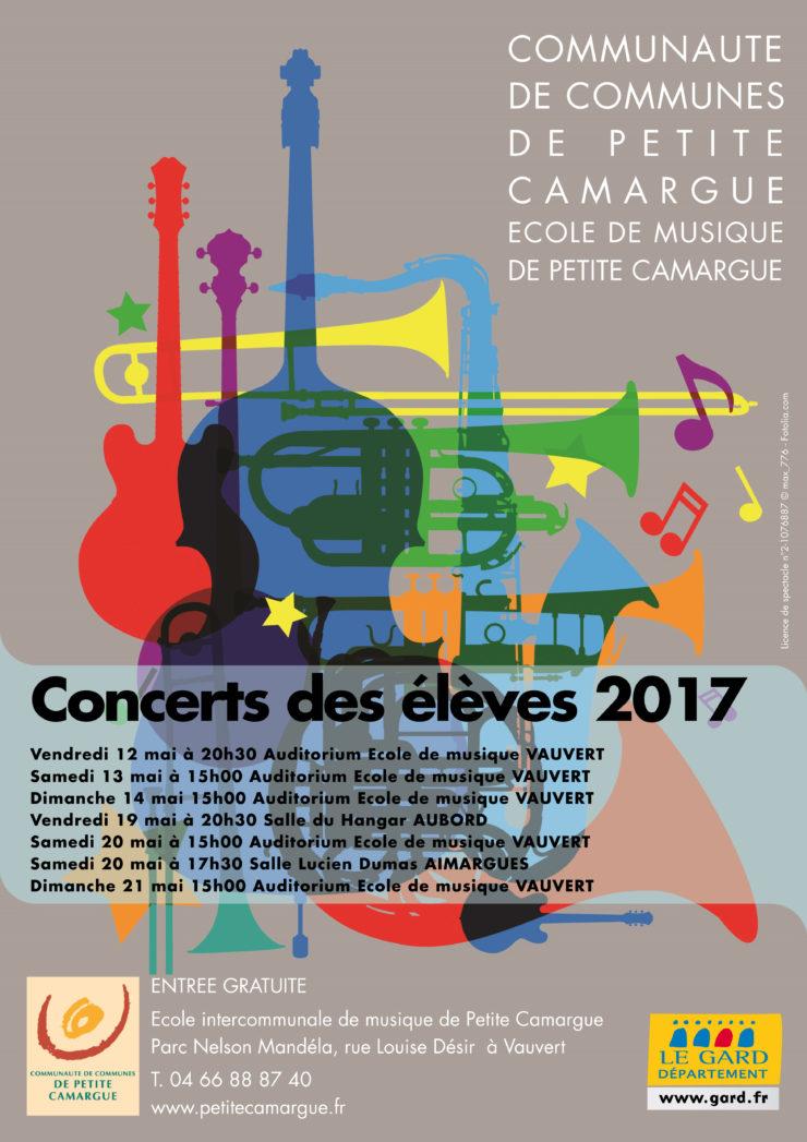 affiche concert des élèves 2017
