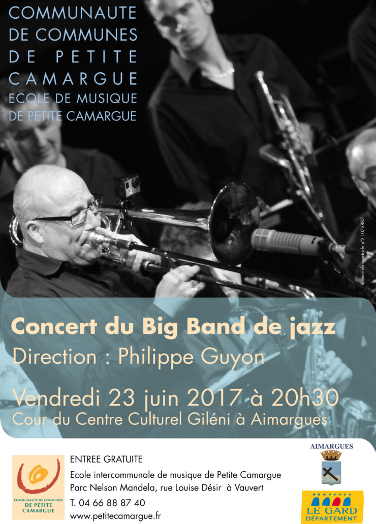 affiche concert du Big Band de Jazz