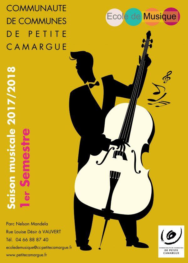 affiche saison musicale 2017/2018 école de musique de petite camargue