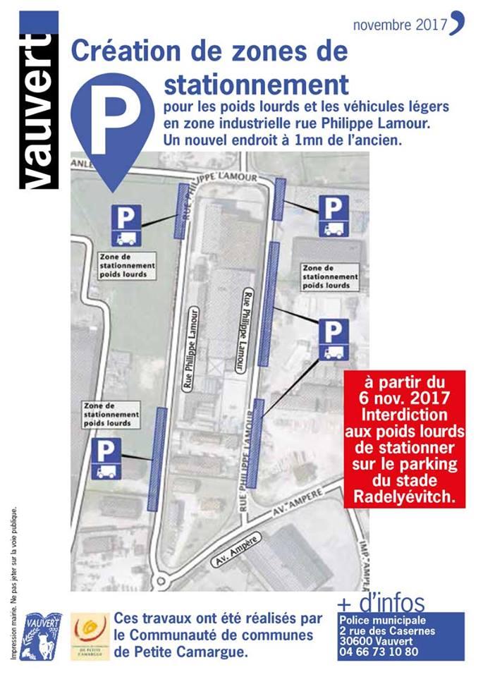 création zones de stationnement