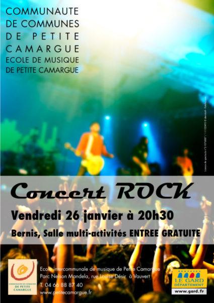 affiche concert rock à Bernis