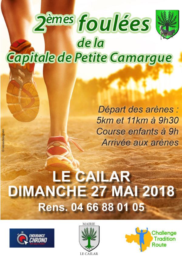 affiche 2 foulées de la capitale de petite camargue
