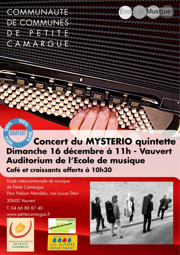Concert le 16 décembre Mystério Quintette